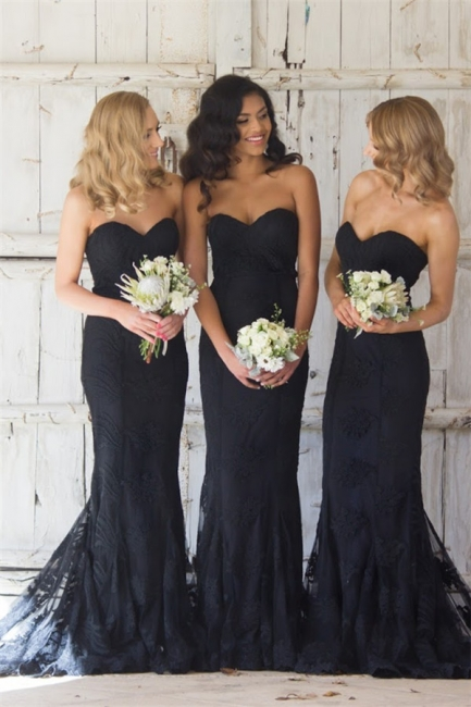 Sweetheart Pretty   Bridesmaid Dresses Lace Sexy Maid Of Honor Dresses Online