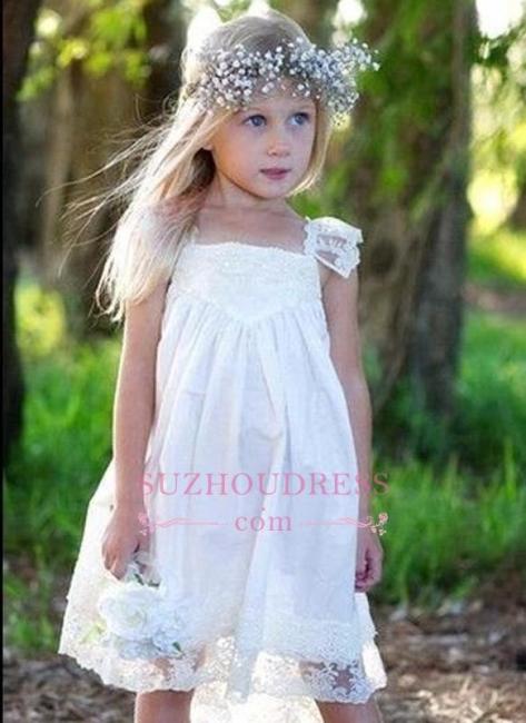 Cute Crisscross Back Capped Sleeves  Flower Girls Dresses