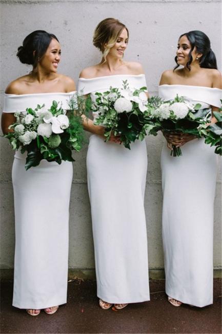 Off The Shoulder Sexy Bridesmaid Dresses | Sheath Elegant  Wedding Party Dresses for Bridesmaid
