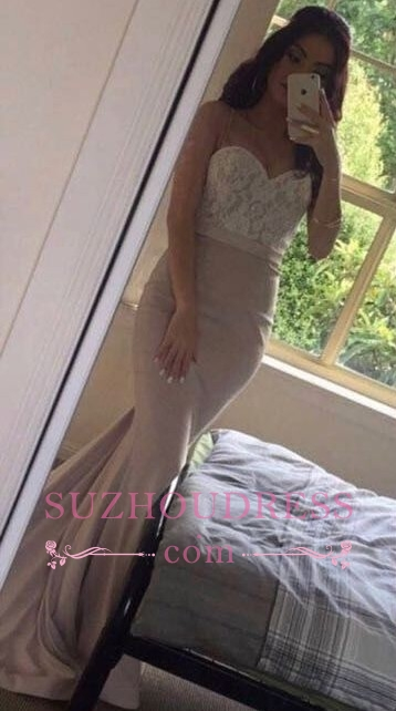 Lace Pink Beading Sweetheart-Neck Pearls Mermaid Prom Dresses