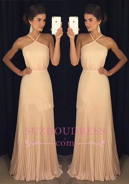 Floor-Length Halter Gorgeous Long Prom Dress GA095 BA6450