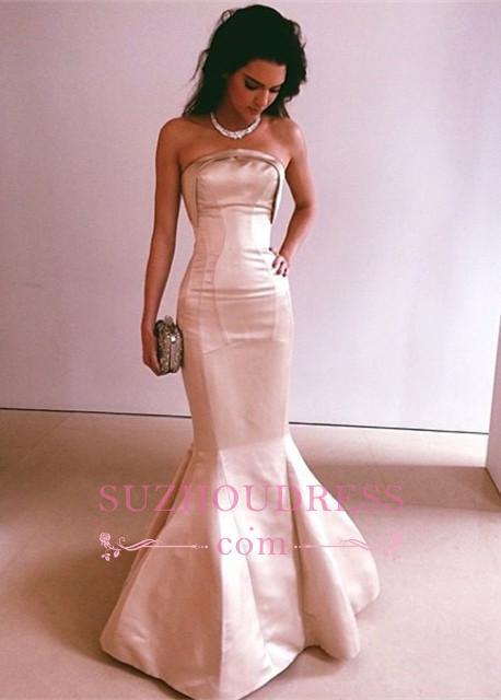 Mermaid Glamorous Strapless Floor-Length Long Evening Dress