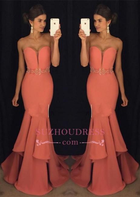 Sweetheart Mermaid Glamorous Beadings Ruffles Evening Dress GA093 BA4428
