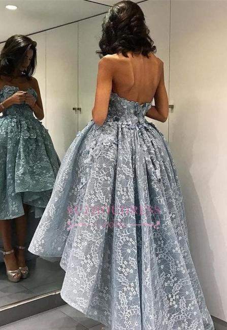 High-Low Strapless Chic Ball-Gown Sleeveless Modern Evening Dress