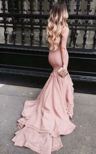 Latest Mermaid Sweep Train Prom Dress Gorgeous Taffeta Celebrity Formal Occasion Dress