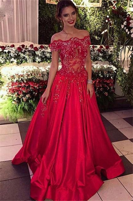 Off The Shoulder Beads Sequins  Formal Evening Dresses  Popular Prom Dress