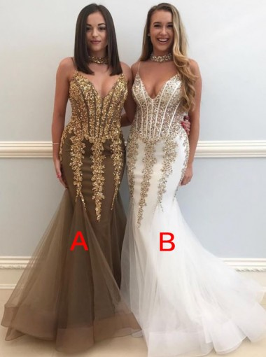 Sexy Mermaid Evening Dresses  | Crystal Mermaid Formal Dresses Online