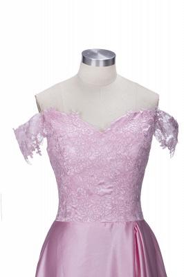 Off-the-Shoulder  Formal Dress Long Lace Split Floor Length Elegant Evening Dress_4
