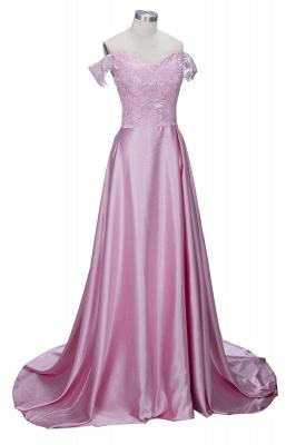 Off-the-Shoulder  Formal Dress Long Lace Split Floor Length Elegant Evening Dress_5
