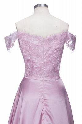Off-the-Shoulder  Formal Dress Long Lace Split Floor Length Elegant Evening Dress_6