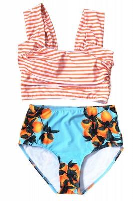 Two-pieces Printed Patterns High-waisted Bikini Set_21