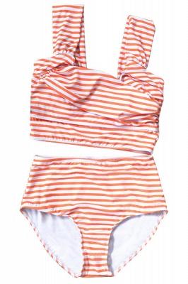 Two-pieces Printed Patterns High-waisted Bikini Set_10