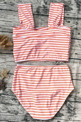 Two-pieces Printed Patterns High-waisted Bikini Set_9