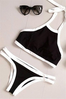 Navy Blue Cut-out Tankini Bathing Suit suits_4