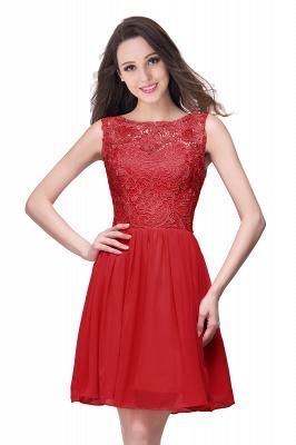 New A-line Chiffon Lace Zipper Short Homecoming Dress_1