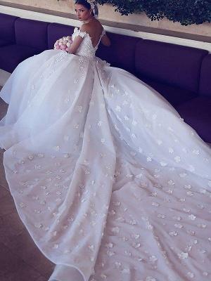 Affordable Chiffon V-Neck Satin Wedding Dresses Chapel Train Sleeveless Bridal Gowns On Sale_4