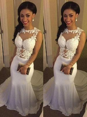 Court Train Satin Mermaid Applique Wedding Dresses | Bridal Gowns Online_3