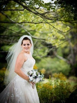 Glamorous Spaghetti Straps Court Train Sleeveless Tulle Wedding Dresses | Bridal Gowns On Sale_3