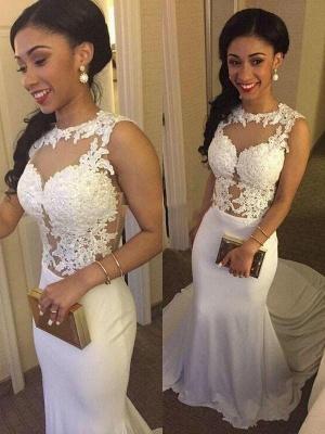 Court Train Satin Mermaid Applique Wedding Dresses | Bridal Gowns Online_1