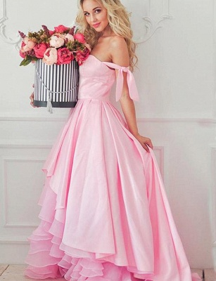 New Tiered Flattering Romantic strapless Off-the-Shoulder High Low Elegant Prom Dress Online | Suzhoudress UK_3