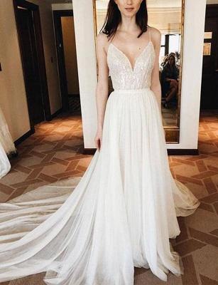 Lace Spaghetti Straps Court Train Flattering Elegant Prom Dress Online | Suzhoudress UK_1