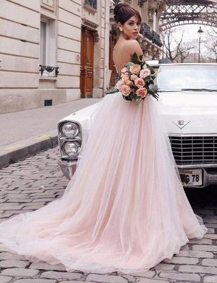 Stunning Trendy V-neck Flattering with Lace Appliques Spaghetti Straps Long-Length Elegant Prom Dress Online | Suzhoudress UK_4