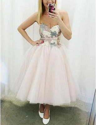 Fashion Tulle Flattering A-line Appliques Different Sweetheart Short Prom Homecoming Dress_1
