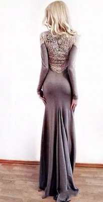 Charming Best Fit Column Jewel Long Sleeves Appliques Online Prom Dress Sale | Suzhoudress UK_3