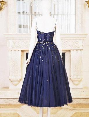 Luxury Flattering Soft Tulle Spaghetti Straps Short Elegant Prom Dress Online | Suzhoudress UK_1