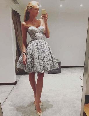 Modern A-Line Sweetheart Teenage Lace Mini Online Prom Dress Sale | Suzhoudress UK_1