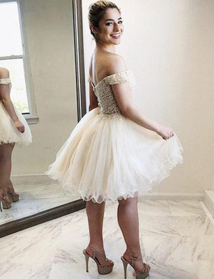 Fashion Tulle Flattering A-line Appliques Off-the-Shoulder Short Homecoming Dress_3