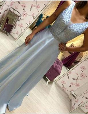Chiffon Flattering Beading Trendy V-neck Sleeveless Long-Length Elegant Prom Dress Online | Suzhoudress UK_4