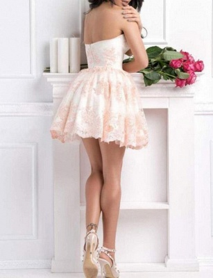 Modern Appliques Flattering A-line Elegant Lace Different Sweetheart Short Homecoming Dress_4