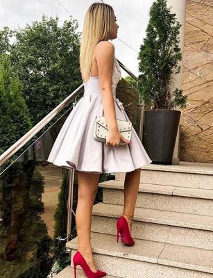 Modern Short Flattering A-line Appliques Spaghetti Straps Homecoming Dress_4