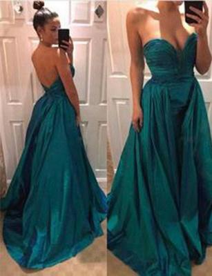 New Long-Length Flattering Sweep Train Romantic strapless Evening Dress | Suzhoudress UK_1