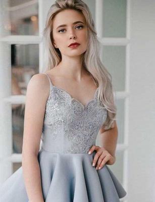 Fashion Flattering A-line Appliques Spaghetti Straps Short Homecoming Dress_4