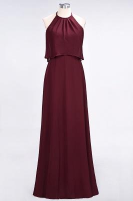 A-line Chiffon Jewel Summer Floor-Length Bridesmaid Dress UK_2