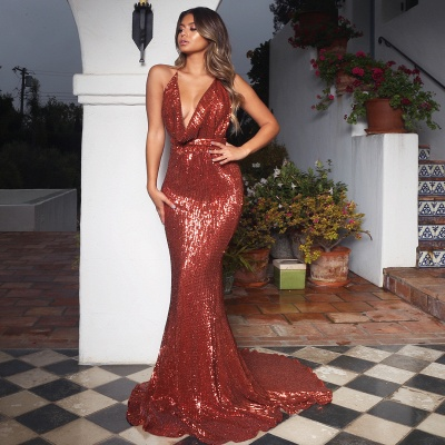 Womens V-Neck Halter Backless Teenage Sexy Trumpet/Mermaid Online Prom Dress Sale | Suzhoudress UK_3