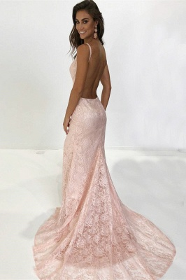 Charming Thin Straps Teenage Womens V-Neck Backless Appliques Online Prom Dress Sale | Suzhoudress UK_2