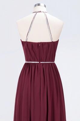 A-line Chiffon Halter Summer Floor-Length Bridesmaid Dress UK with Beading Sash_6