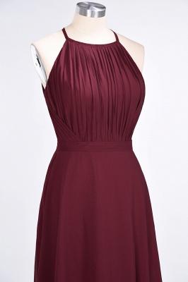 A-line Chiffon Jewel Summer Floor-Length Bridesmaid Dress UK with Ruffles_5
