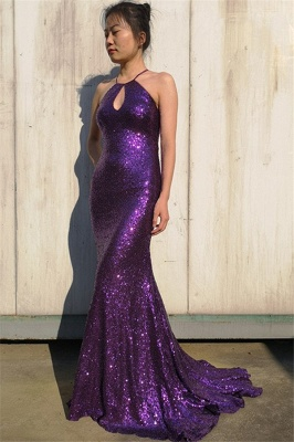 Glamour Purple Halter Teenage Sexy Trumpet/Mermaid Floor-Length Online Prom Dress Sale | Suzhoudress UK_3
