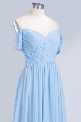 A-line Chiffon Straps Sweetheart Summer Floor-Length Bridesmaid Dress UK with Ruffles_5