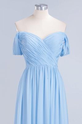 A-line Chiffon Straps Sweetheart Summer Floor-Length Bridesmaid Dress UK with Ruffles_4