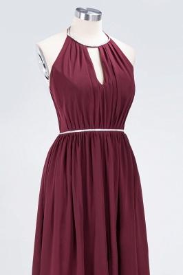 A-line Chiffon Halter Summer Floor-Length Bridesmaid Dress UK with Beading Sash_5