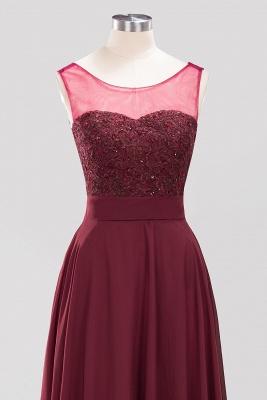 A-Line Chiffon Tulle Lace Beadings Jewel Teenage Floor-Length Bridesmaid Dresses with Sash   Suzhoudress UK_4