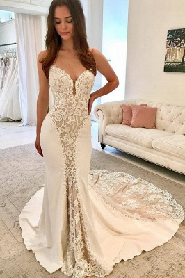 Elegant Thin Straps Teenage Appliques Sexy Trumpet/Mermaid Online Prom Dress Sale | Suzhoudress UK_1