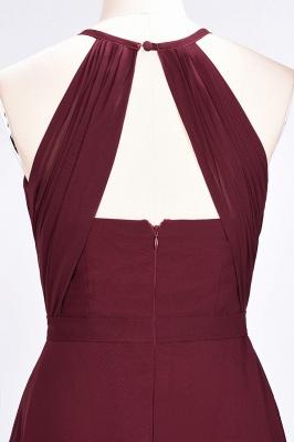 A-line Chiffon Jewel Summer Floor-Length Bridesmaid Dress UK with Ruffles_6