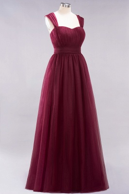 A-Line Chiffon Sweetheart Straps Sleeves Floor-Length Bridesmaid Dresses with Ruffles | Suzhoudress UK_5