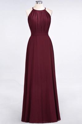 A-line Chiffon Jewel Summer Floor-Length Bridesmaid Dress UK with Ruffles_1